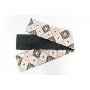 オリジナル細帯織絞りピンク