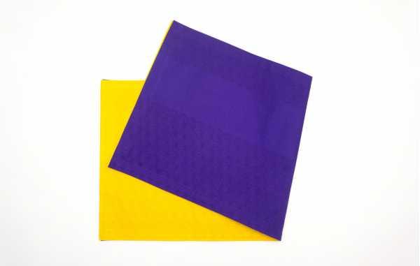 布扇 紫×黄色
