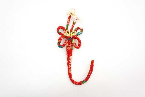 華かざり39 ベーシックミニ(柄物) 赤(花柄)