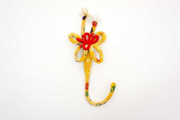 華かざり39 ベーシックミニ(柄物) 黄(花柄)