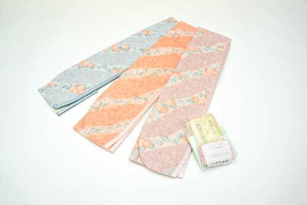 前結び帯板 若竹・コスモスセット オレンジ