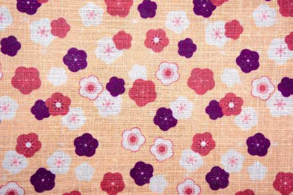 小花麻の葉 柑子色 アップ