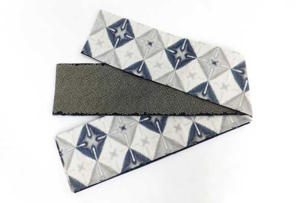 オリジナル細帯織絞りブルー