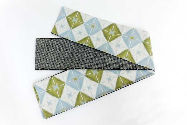 オリジナル細帯織絞りグリーン
