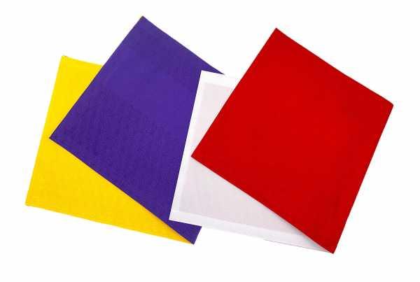 布扇(赤×白・紫×黄色)