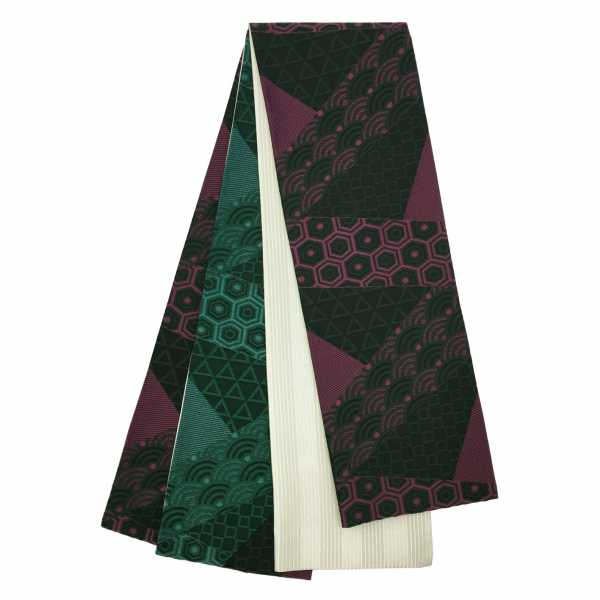 きりばみ調 吉祥幾何学 紫×グリーン